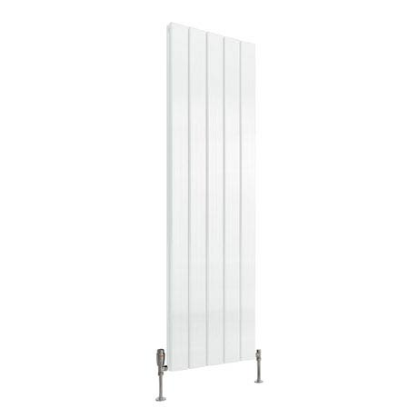 Reina Stadia Vertical Double Panel Aluminium Radiator - White