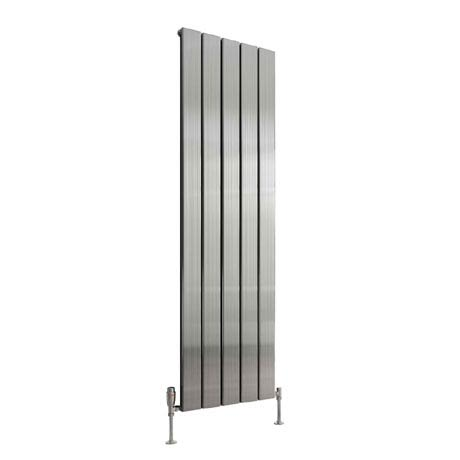 Reina Stadia Vertical Single Panel Aluminium Radiator - Polished