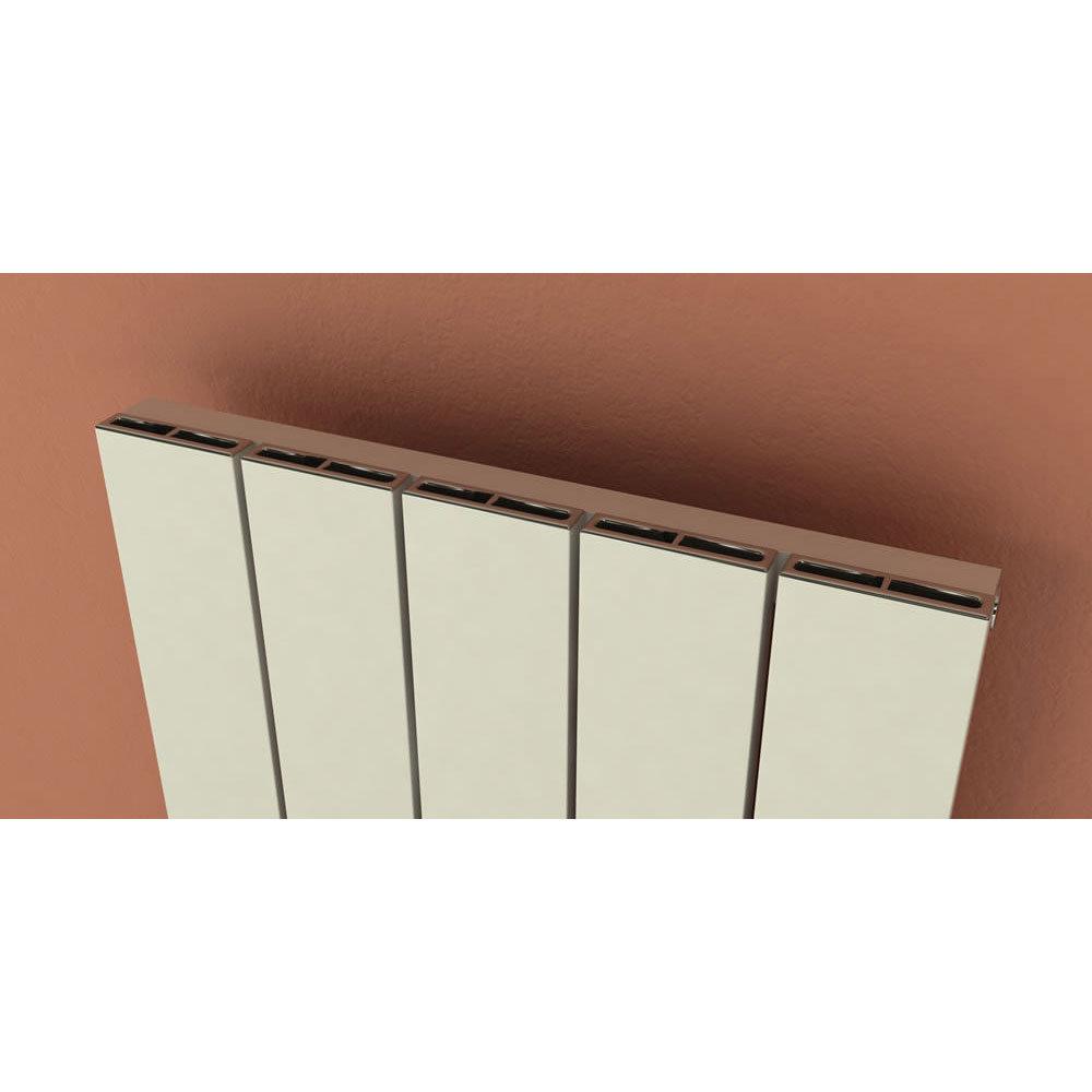 Reina Savona Vertical Aluminium Radiator - Black profile large image view 3