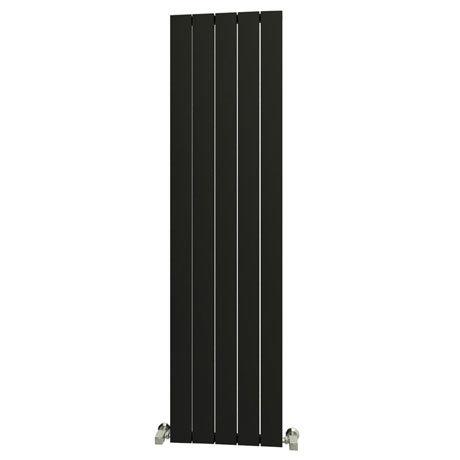 Reina Savona Vertical Aluminium Radiator - Black