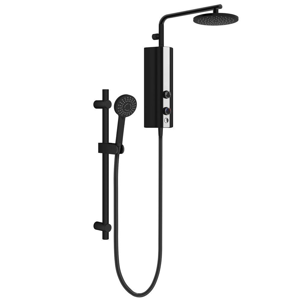 AQUAS AquaMax Flex Manual Eco 9.5KW Matt Black Electric Shower