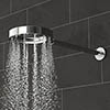 AQUAS Wave XJET Rain Shower 200mm Chrome + Wall Mounted Arm profile small image view 1