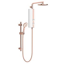 AQUAS AquaMax Flex Manual Smart 9.5KW White + Rose Gold Electric Shower