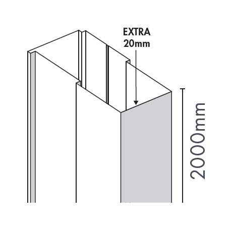 Merlyn Ionic Essence Hinge & Inline Door Extension Profile Large Image