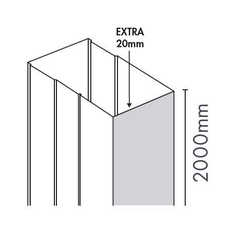 Merlyn Ionic Essence Sliding & Quad Door Extension Profile Large Image
