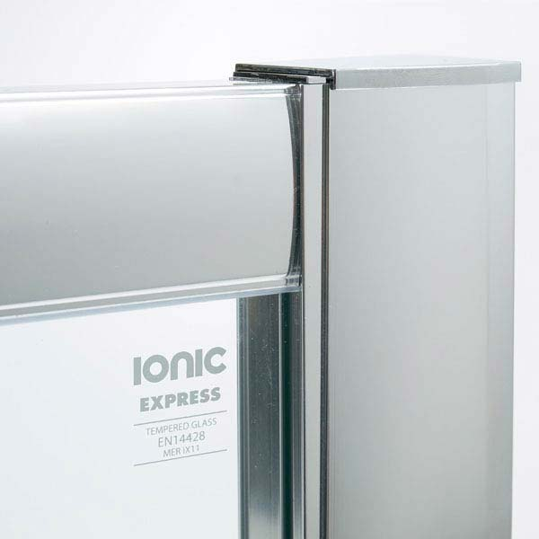 Merlyn Ionic Express 2 Door Offset Quadrant Enclosure (900 x 760mm)  In Bathroom Large Image