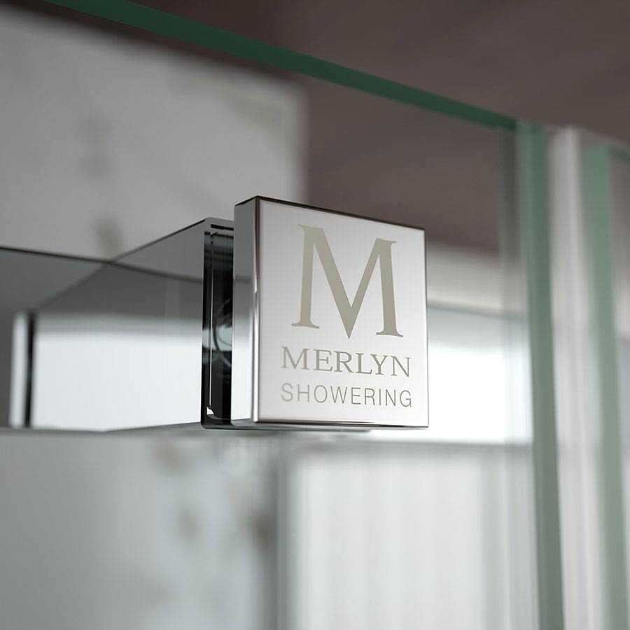Merlyn 8 Series Frameless Hinge & Inline Shower Door profile large image view 2