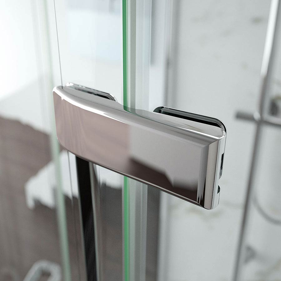 Merlyn 8 Series Frameless Hinged Bifold Shower Door  Standard Large Image