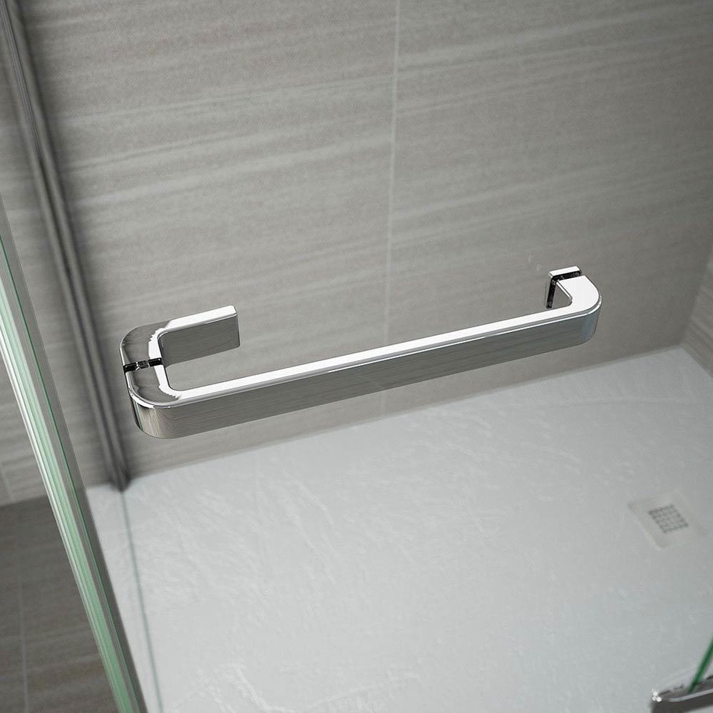 Merlyn 8 Series Frameless Hinged Bifold Shower Door  In Bathroom Large Image
