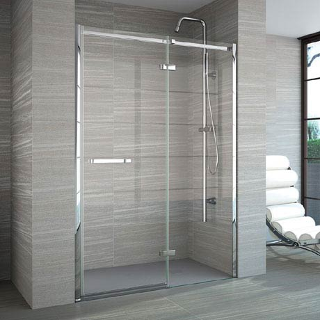 Merlyn 8 Series Frameless Hinge & Inline Shower Door