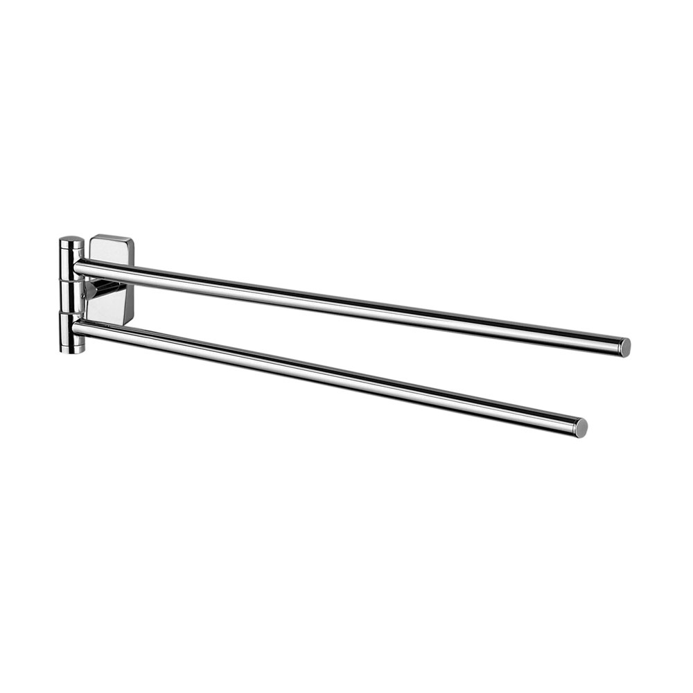 Inda - Storm 450mm Swivel Double Towel Rail - A07150 Large Image