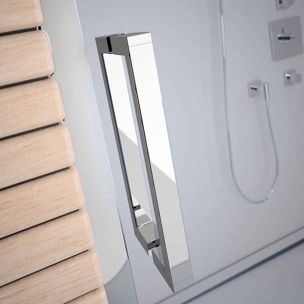 Merlyn 8 Series Colour Sliding Shower Door - Polished Chrome profile large image view 2