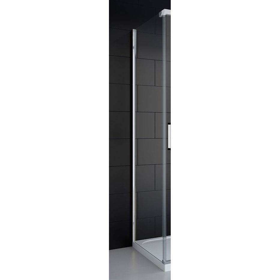 Merlyn 8 Series Colour Side Panel - Polished Chrome Large Image