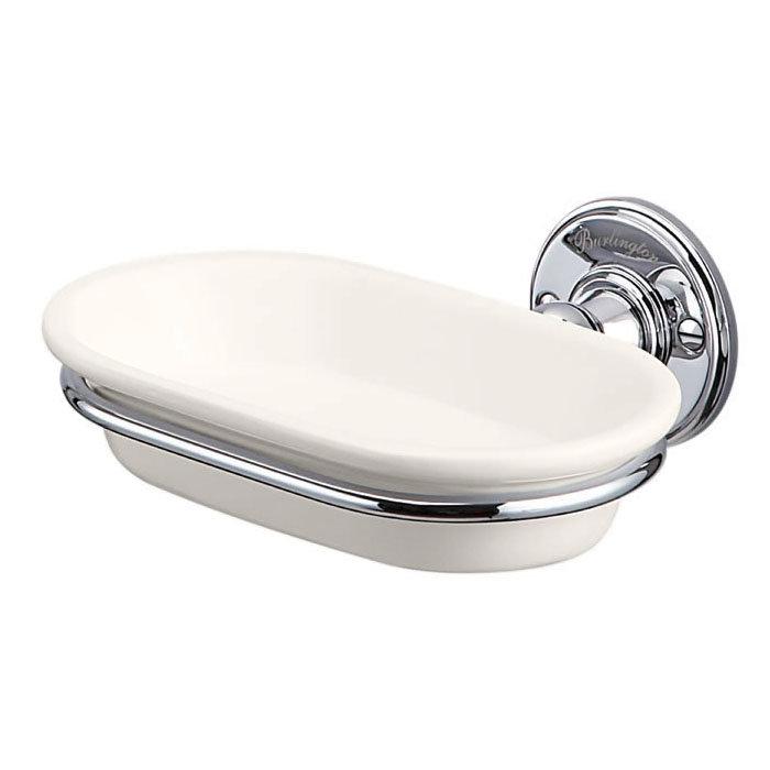 Burlington Medici Soap Dish with Chrome Holder - A1-CHR-MED