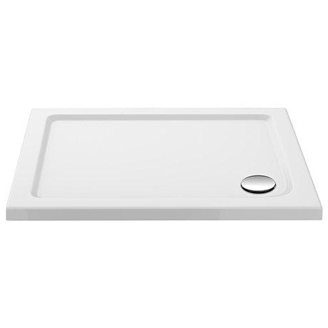 Aurora 1000 x 700mm Anti-Slip Stone Rectangular Shower Tray