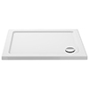 Aurora 1000 x 700mm Anti-Slip Stone Rectangular Shower Tray profile small image view 1