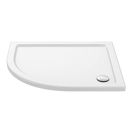 Aurora 1000 x 800mm LH Anti-Slip Offset Quadrant Shower Tray