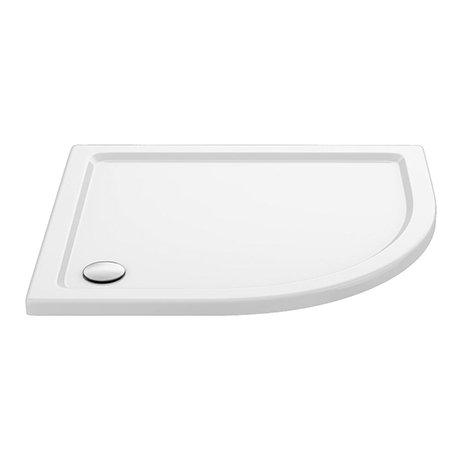 Aurora 1000 x 800mm RH Anti-Slip Offset Quadrant Shower Tray