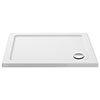Aurora 1000 x 800mm Anti-Slip Stone Rectangular Shower Tray profile small image view 1
