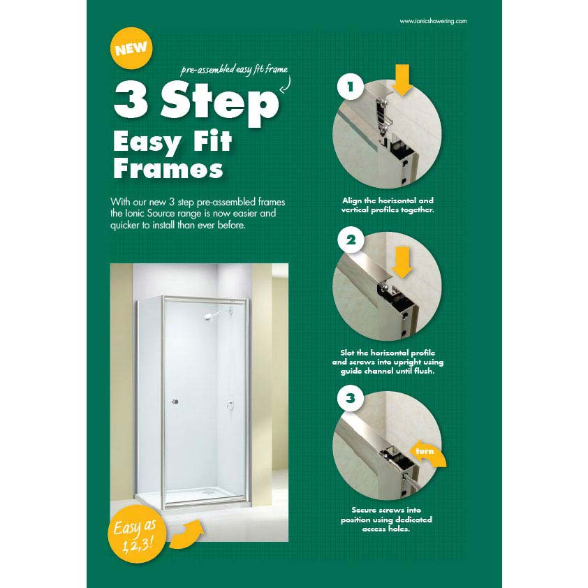 Merlyn Ionic Source Pivot Shower Door  Profile Large Image