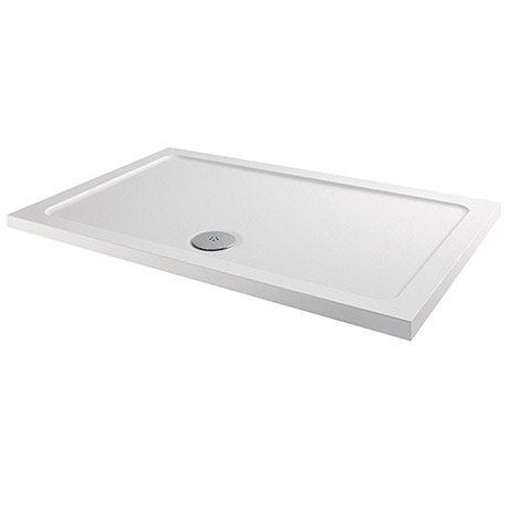 Aurora 1200 x 700mm Anti-Slip Stone Rectangular Shower Tray