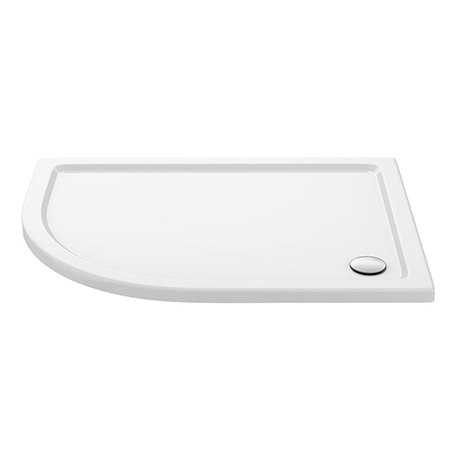 Aurora 1200 x 800mm LH Anti-Slip Offset Quadrant Shower Tray
