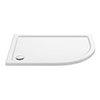 Aurora 1200 x 800mm RH Anti-Slip Offset Quadrant Shower Tray profile small image view 1