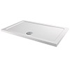Aurora 1200 x 800mm Anti-Slip Stone Rectangular Shower Tray profile small image view 1