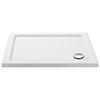 Aurora 1200 x 900mm Anti-Slip Stone Rectangular Shower Tray profile small image view 1