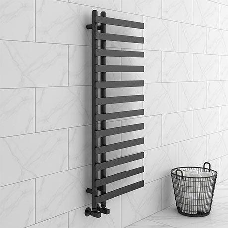 Arezzo Anthracite 1200 x 500mm 12 Bars Designer Heated Towel Rail