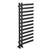 Arezzo Anthracite 1200 x 500mm 12 Bars Designer Heated Towel Rail profile small image view 1