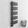 Arezzo Anthracite 1200 x 500mm 15 Bars Designer Heated Towel Rail profile small image view 1