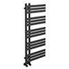 Arezzo Anthracite 1200 x 500mm 15 bars Designer Heated Towel Rail profile small image view 1