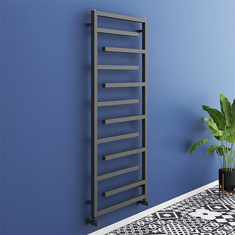 Arezzo Anthracite 1380 x 600mm Designer Towel Rail
