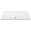 Aurora 1400 x 800mm Anti-Slip Stone Rectangular Shower Tray profile small image view 1