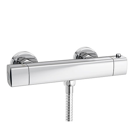 Montreal Modern Thermostatic Bar Shower Valve (Bottom Outlet)