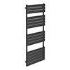 Milan Heated Towel Rail H1600mm x W600mm Anthracite profile small image view 1