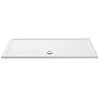 Aurora 1700 x 800mm Anti-Slip Stone Rectangular Shower Tray profile small image view 1