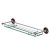 Burlington Glass Shelf with Guard Rail - Walnut - A18WAL profile small image view 1