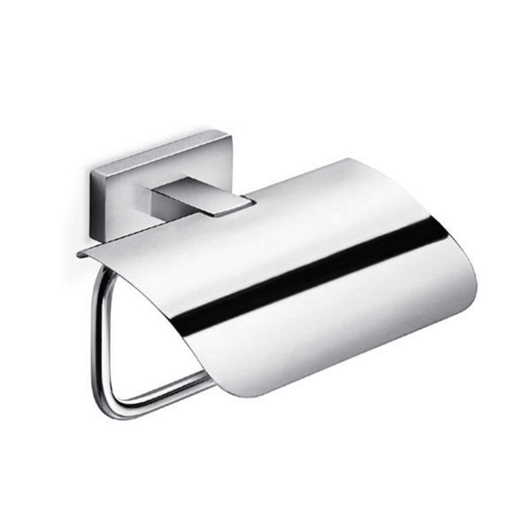 Inda - Lea Toilet Roll Holder with Cover - A1926A profile large image view 1