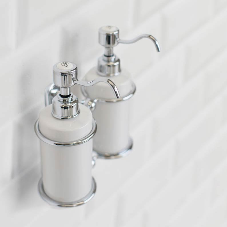 Burlington - Double Soap Dispenser - A20CHR profile large image view 2
