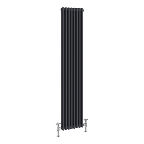 Keswick 1800 x 372mm Cast Iron Style Traditional 2 Column Anthracite Radiator