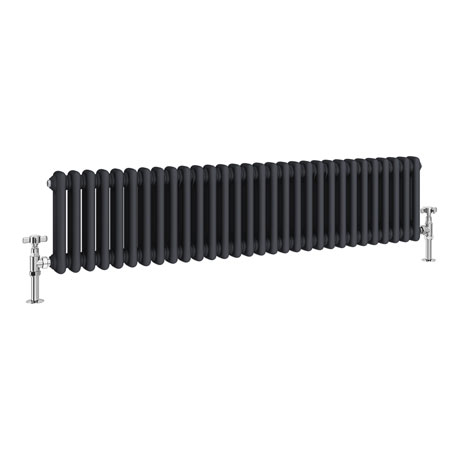 Keswick 300 x 1340mm Cast Iron Style Traditional 2 Column Anthracite Radiator