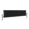 Keswick 315 x 1008mm Horizontal Radiator Anthracite 2 Column (22 Sections) profile small image view 1
