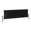 Keswick 315 x 1008mm Horizontal Radiator Anthracite 2 Column (22 Sections) profile small image view 1