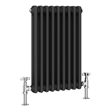 Keswick 600 x 423mm Vertical Radiator Anthracite 2 Column (9 Sections)