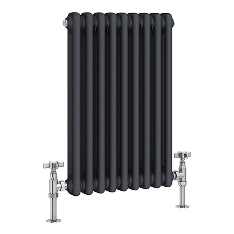 Keswick 600 x 423mm Vertical Radiator Anthracite 2 Column (9 Section)