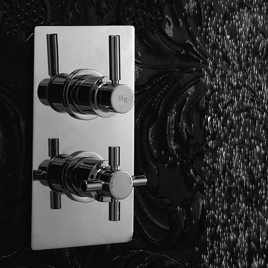 Hudson Reed Tec Pura Twin Concealed Thermostatic Shower Valve - A3003V Profile Large Image