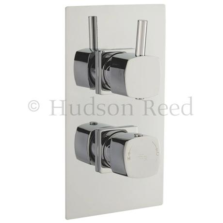 Hudson reed kia concealed twin shower valve with diverter for Chatsworth bathroom faucet parts