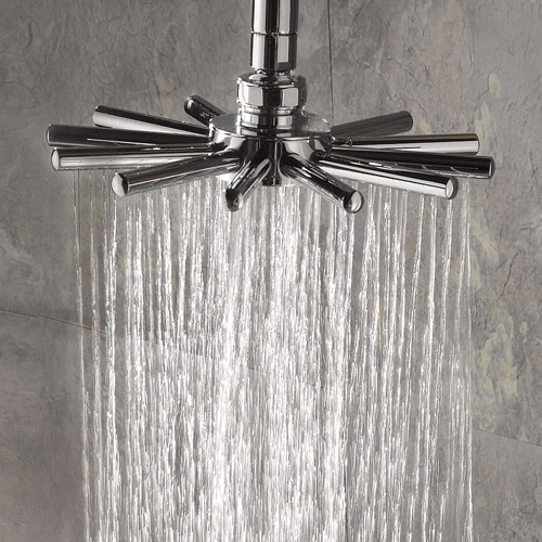 Hudson Reed Modern Cloudburst Fixed Shower Head + Arm profile large image view 2